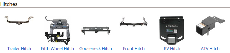 standard trailer hitches